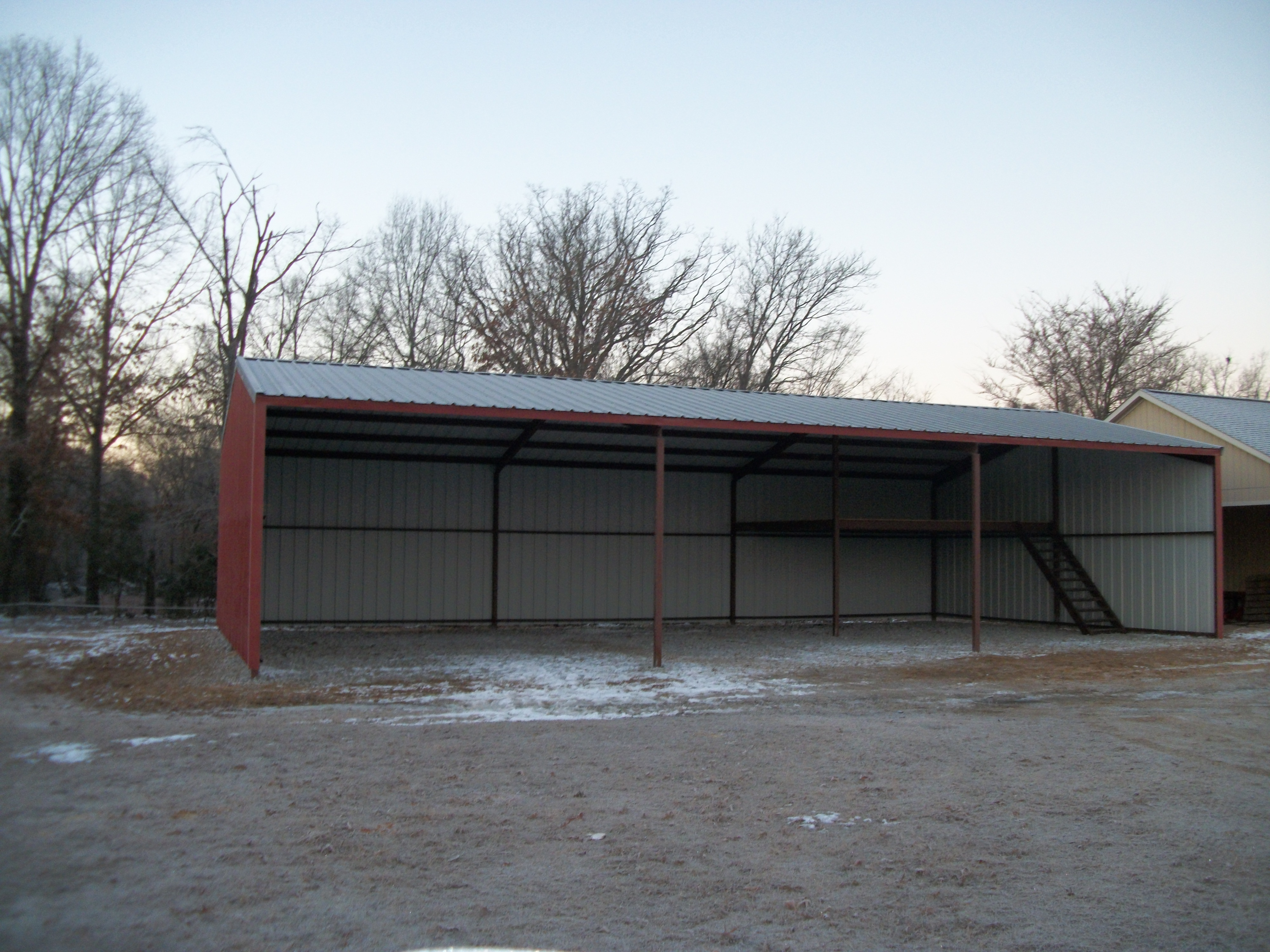 Agriculture stansell construction for Equipment shed